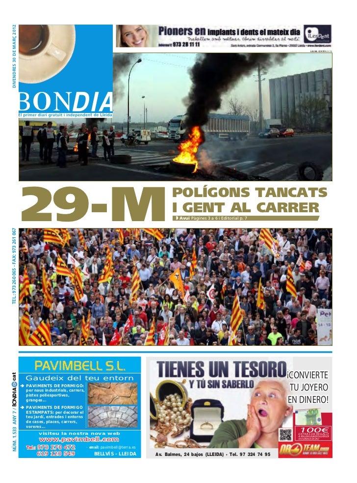 DIVENDRES 30 DE MARÇ 2012                                                                                                 ...