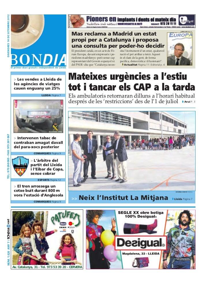 divendres 14 DE setembre 2012                                                                                Mas reclama a...