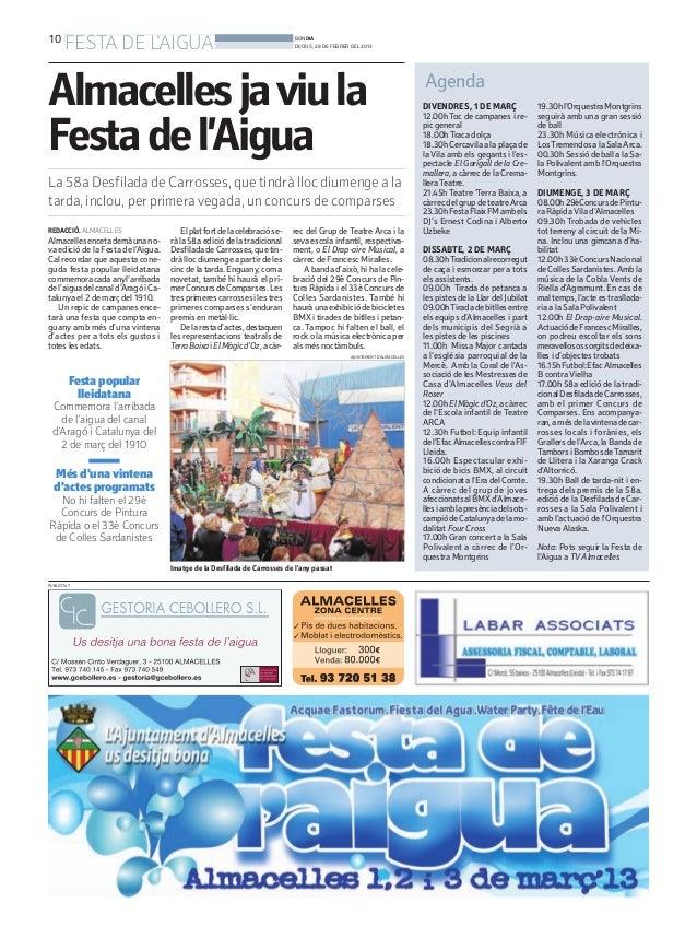 10       FESTA DE LAIGUA                                                      BONDIA                                      ...