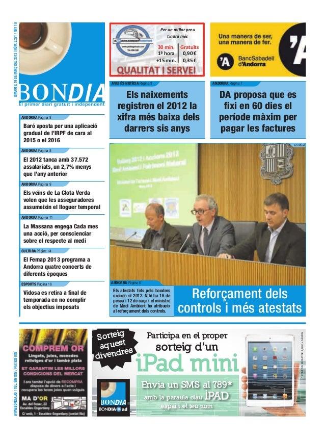 DIMARTS, 19 DE MARÇ DEL 2013 / NÚM. 2.271 / ANY 10                                                                        ...