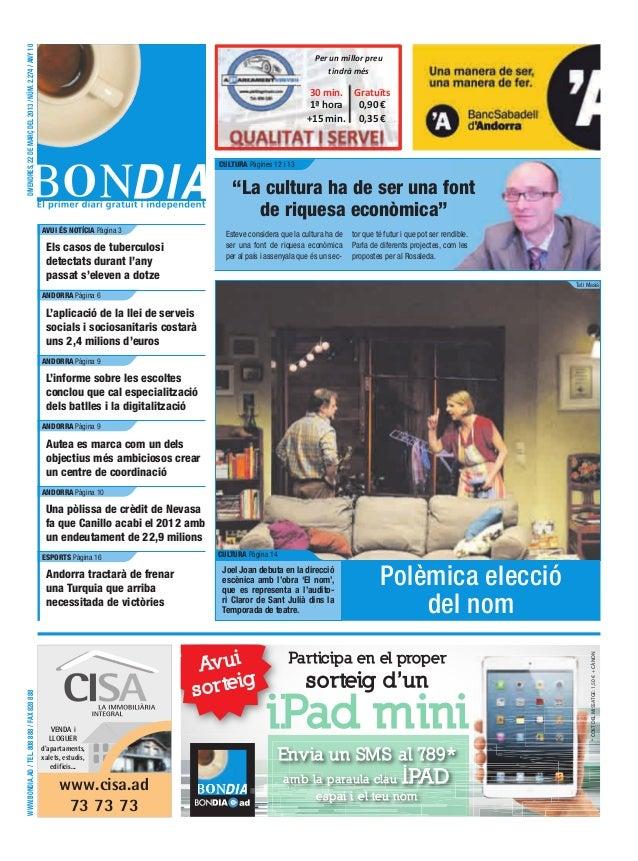 DIVENDRES, 22 DE MARÇ DEL 2013 / NÚM. 2.274 / ANY 10                                                                      ...