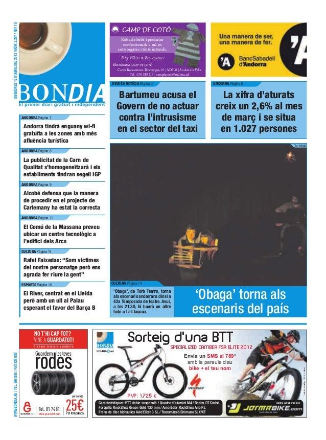 DIVENDRES, 12 D'ABRIL DEL 2013 / NÚM. 2.287 / ANY 10                                                                      ...