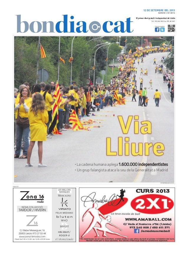 Tel.: 973 260 065 Fax: 973 261 067 El primer diari gratuït i independent de Lleida Visita'ns també a: 12 DE SETEMBRE DEL 2...