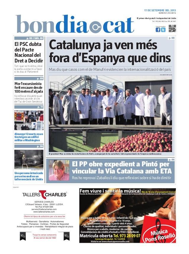 Tel.: 973 260 065 Fax: 973 261 067 El primer diari gratuït i independent de Lleida Visita'ns també a: 17 DE SETEMBRE DEL 2...