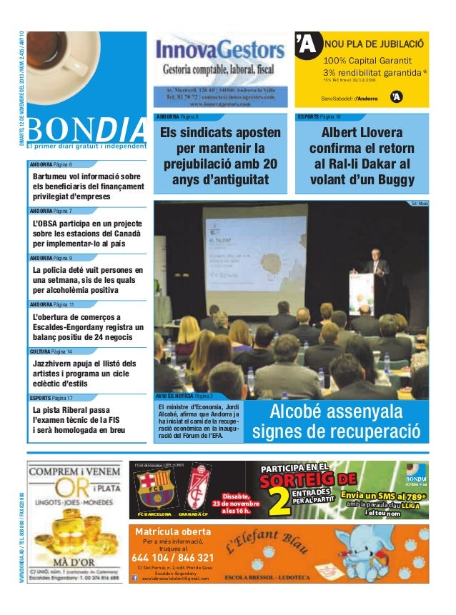 dimarts, 12 de novembre del 2013 / núm. 2.435 / any 10  NOU PLA DE JUBILACIÓ 100% Capital Garantit 3% rendibilitat garanti...