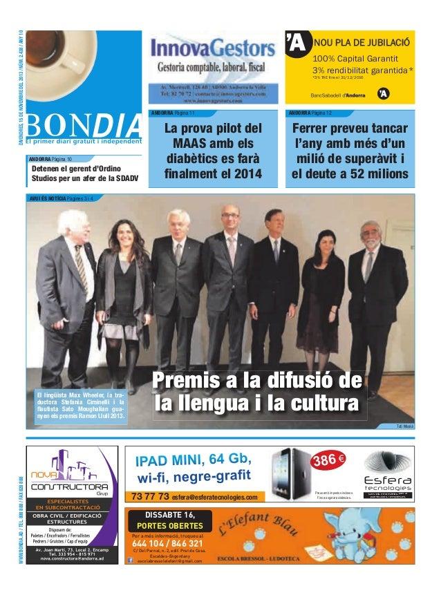 divendres, 15 de novembre del 2013 / núm. 2.438 / any 10  NOU PLA DE JUBILACIÓ 100% Capital Garantit 3% rendibilitat garan...