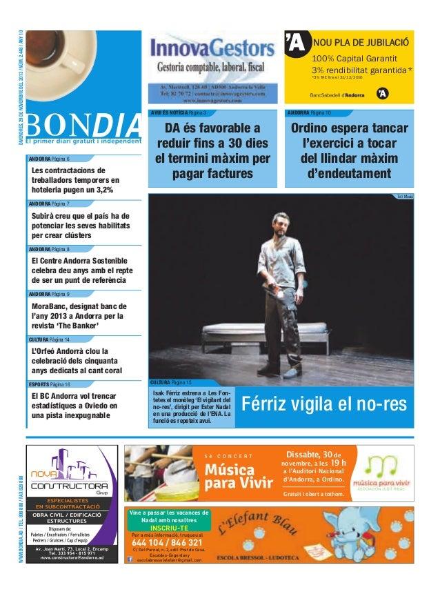 divendres, 29 de novembre del 2013 / núm. 2.448 / any 10  NOU PLA DE JUBILACIÓ 100% Capital Garantit 3% rendibilitat garan...
