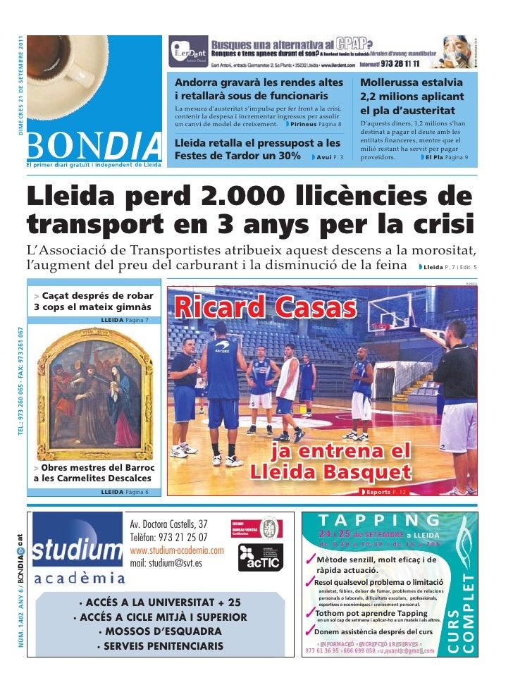 dimecres 21 de setembre 2011                                                                           Andorra gravarà les...