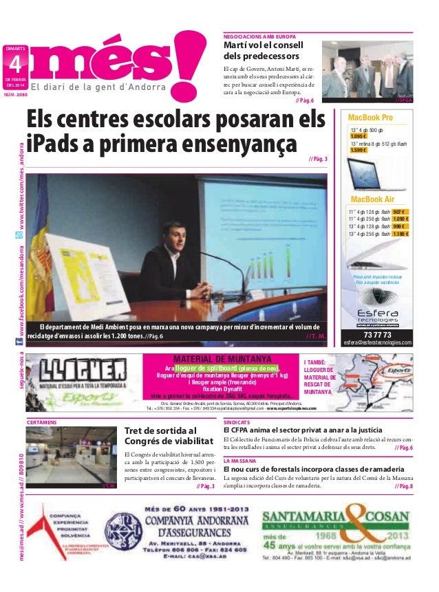 nEgoCiaCions amb EuroPa  martí vol el consell dels predecessors  dimarts  4  El cap de Govern, Antoni Martí, es reuneix am...