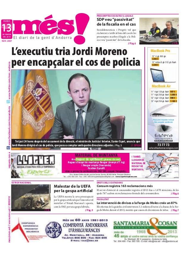 """PreSuMPteS eScoLteS iL·LeGALS  SdP veu """"passivitat"""" de la fiscalia en el cas  dijous  13  Socialdemocràcia i Progrés vol q..."""