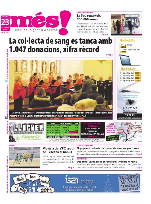 grossa De naDal  la seu reparteix 200.000 euros  dilluns  23  L'administració Els Minairons de la Seu d'Urgell reparteix 2...