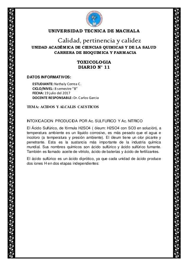 UNIVERSIDAD TECNICA DE MACHALA Calidad, pertinencia y calidez UNIDAD ACADÉMICA DE CIENCIAS QUIMICAS Y DE LA SALUD CARRERA ...