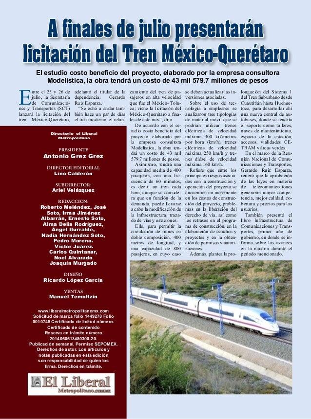 PRESIDENTE Antonio Grez Grez DIRECTOR EDITORIAL Lino Calderón SUBDIRECTOR: Ariel Velázquez REDACCION: Roberto Meléndez, Jo...