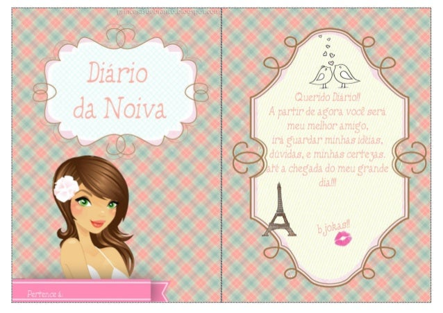 Diário da Noiva para imprimir