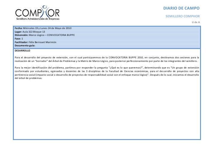 DIARIO DE CAMPO                                                                                                           ...