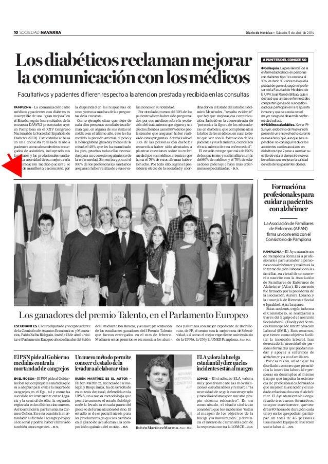 10 SOCIEDAD NAVARRA Diario de Noticias – Sábado, 5 de abril de 2014 ElPSNpidealGobierno medidascontrala mortandaddecangrej...