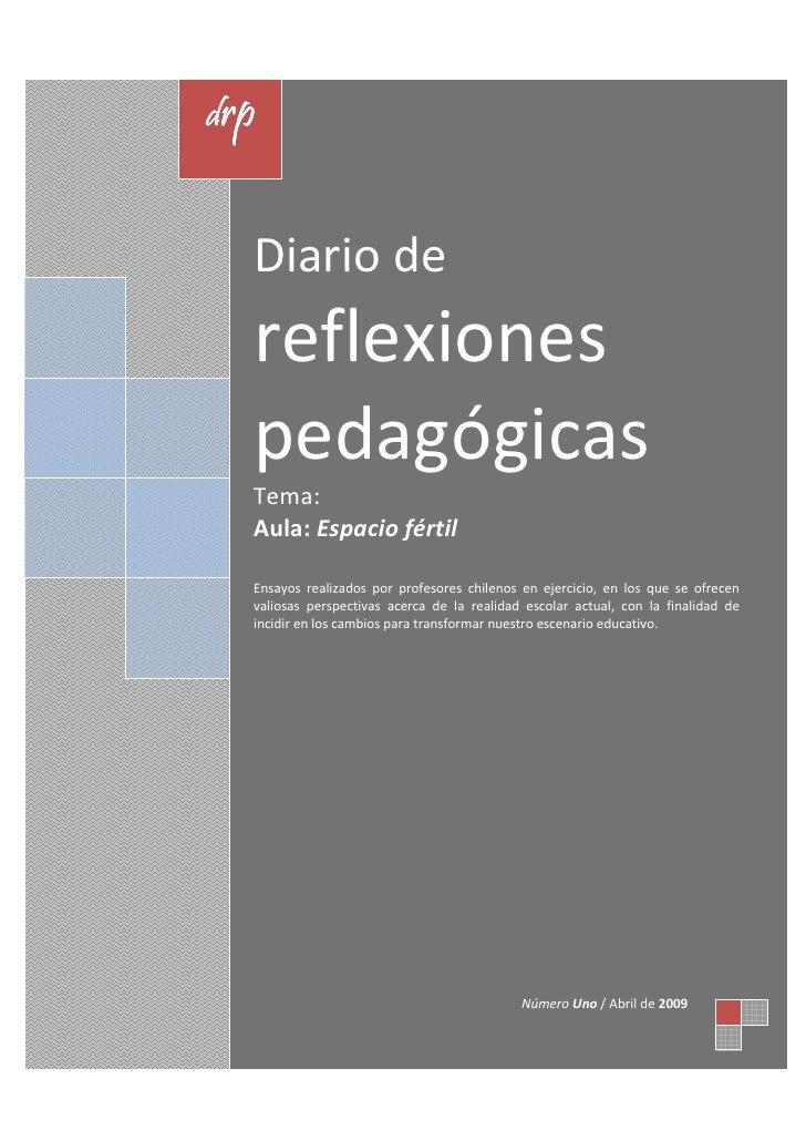 drp     Diario de   reflexiones   pedagógicas   Tema:   Aula: Espacio fértil    Ensayos realizados por profesores chilenos...