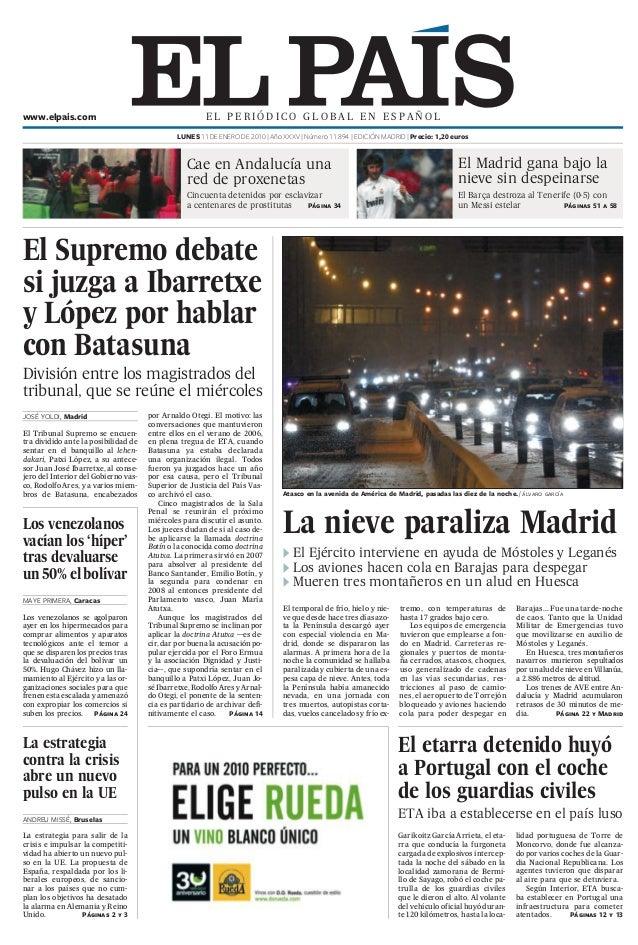 Diario el pais de españa.