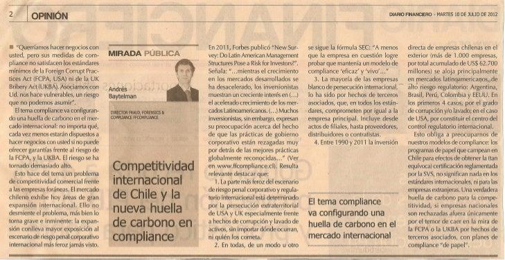 Compliance: la nueva Huella de Carbono para nuestra competitividad internacional