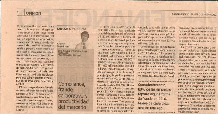 Diario Financiero 12 de junio 2012