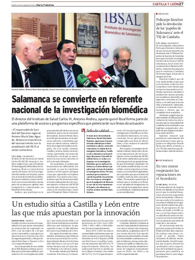 CASTILLA Y LEÓN27MARTES 25 DE MARZO DE 2014 Diario Palentino Antonio Andreu, Antonio María Sáez Aguado y Daniel Hernández,...