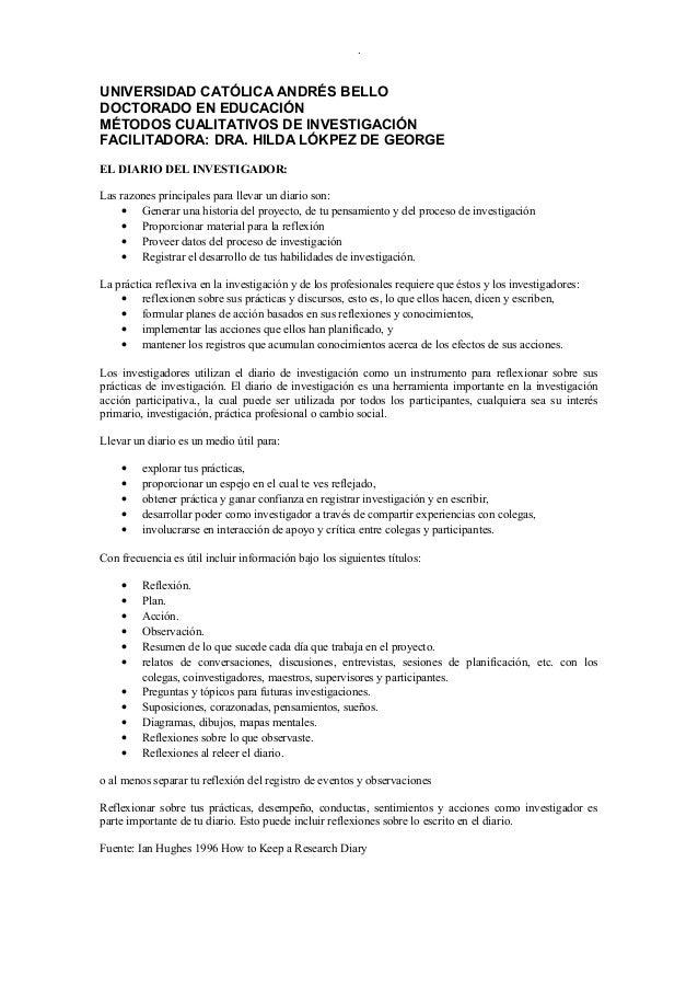 .UNIVERSIDAD CATÓLICA ANDRÉS BELLODOCTORADO EN EDUCACIÓNMÉTODOS CUALITATIVOS DE INVESTIGACIÓNFACILITADORA: DRA. HILDA LÓKP...