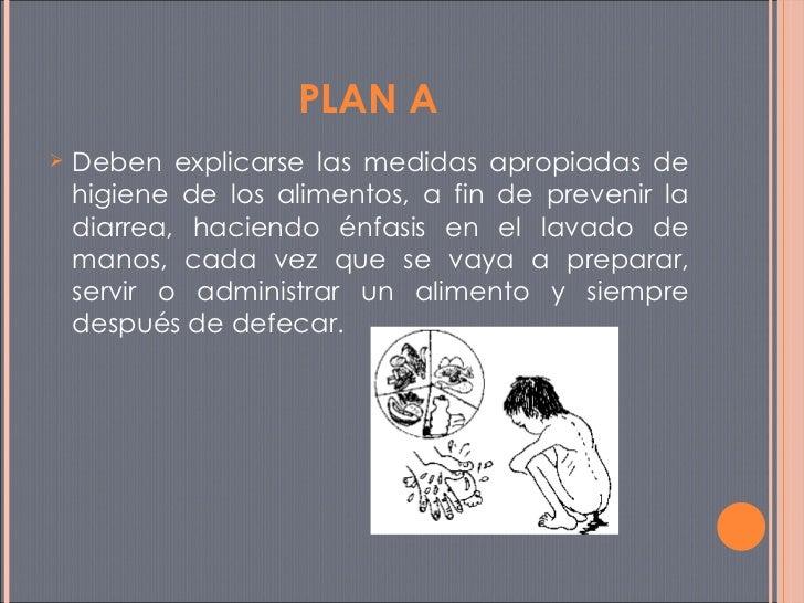 <ul><li>Deben explicarse las medidas apropiadas de higiene de los alimentos, a fin de prevenir la diarrea, haciendo énfasi...