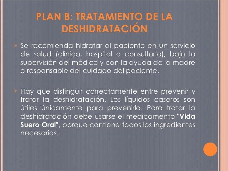 <ul><li>Se recomienda hidratar al paciente en un servicio de salud (clínica, hospital o consultorio), bajo la supervisión ...
