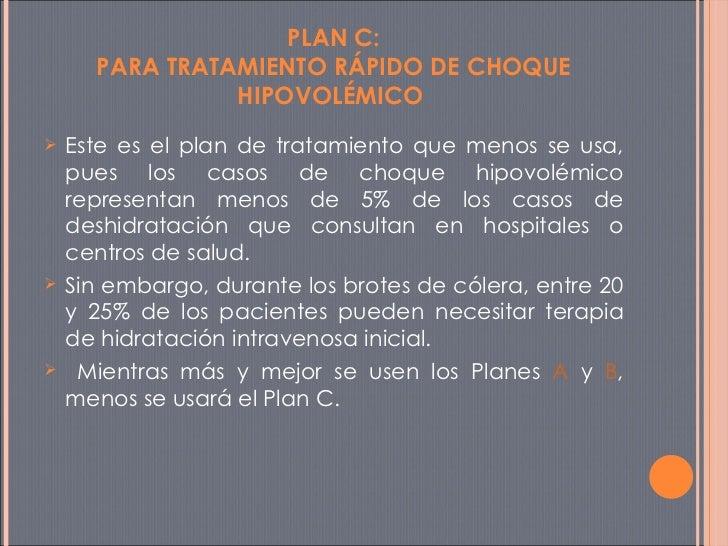 PLAN C: PARA TRATAMIENTO RÁPIDO DE CHOQUE HIPOVOLÉMICO  <ul><li>Este es el plan de tratamiento que menos se usa, pues los ...