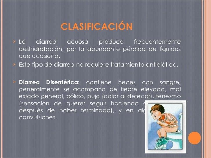 <ul><li>La diarrea acuosa produce frecuentemente deshidratación, por la abundante pérdida de líquidos que ocasiona.  </li>...