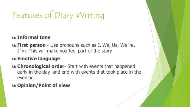 features of writing a diary entry ks24194