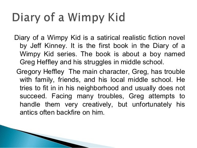 A short summary of diary of a wimpy kid