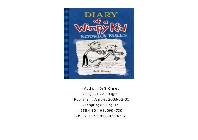 Read Diary Of A Wimpy Kid Rodrick Rules 2 By Jeff Kinney Online