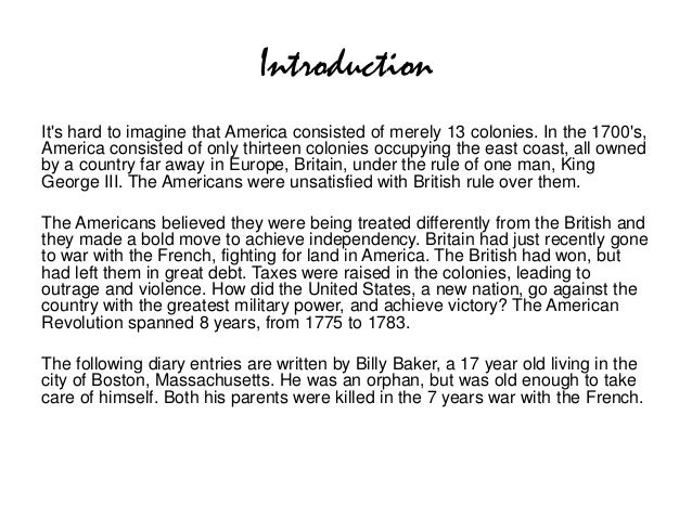IntroductionIts hard to imagine that America consisted of merely 13 colonies. In the 1700s,America consisted of only thirt...
