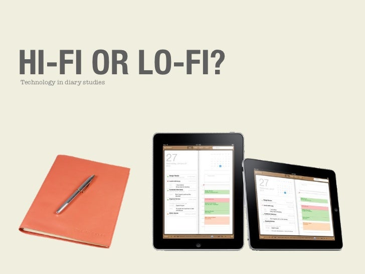 HI-FI OR LO-FI?Technology in diary studies