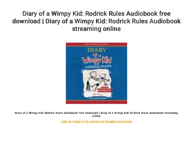 Diary Of A Wimpy Kid Rodrick Rules Audiobook Free Download Diary O