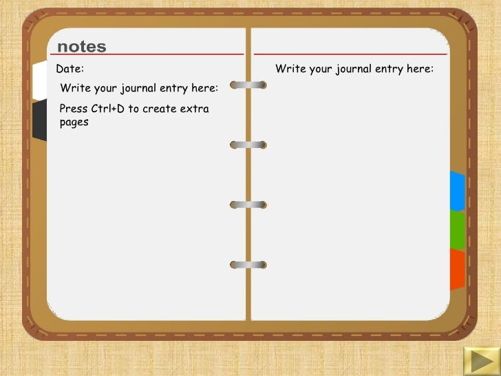 Diary writing template