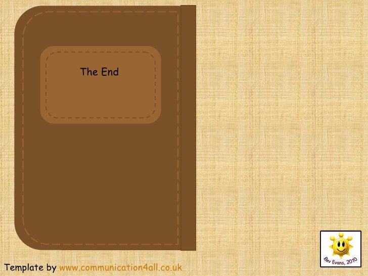 Template By Www.communication4all.co.uk The End  Diary Paper Template