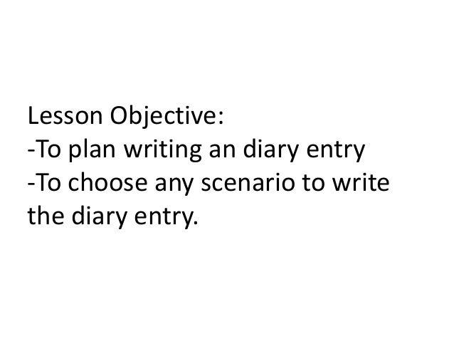 Writing a diary entry ks3