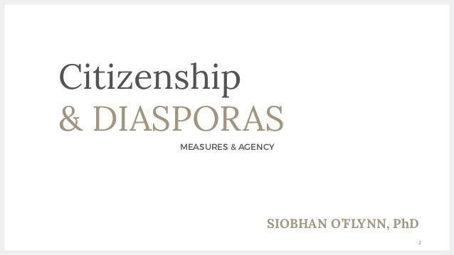 Diasporas & Citizenship: Measures & Agency Slide 2