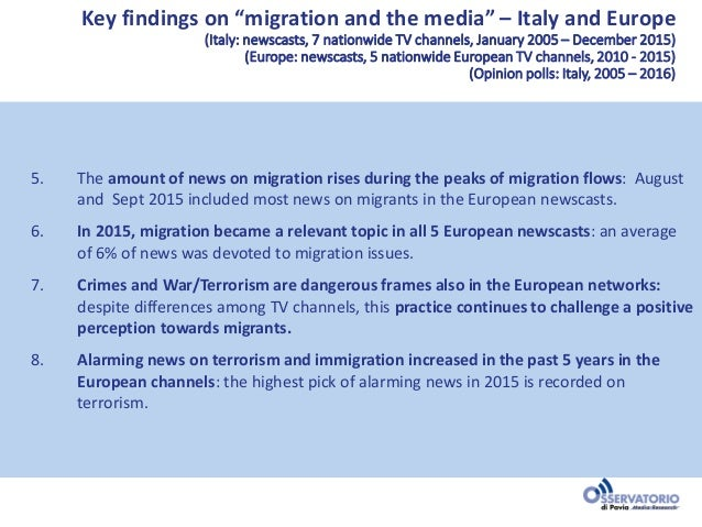 Diasporas, migration and the media in Europe: Narratives and perception Slide 3