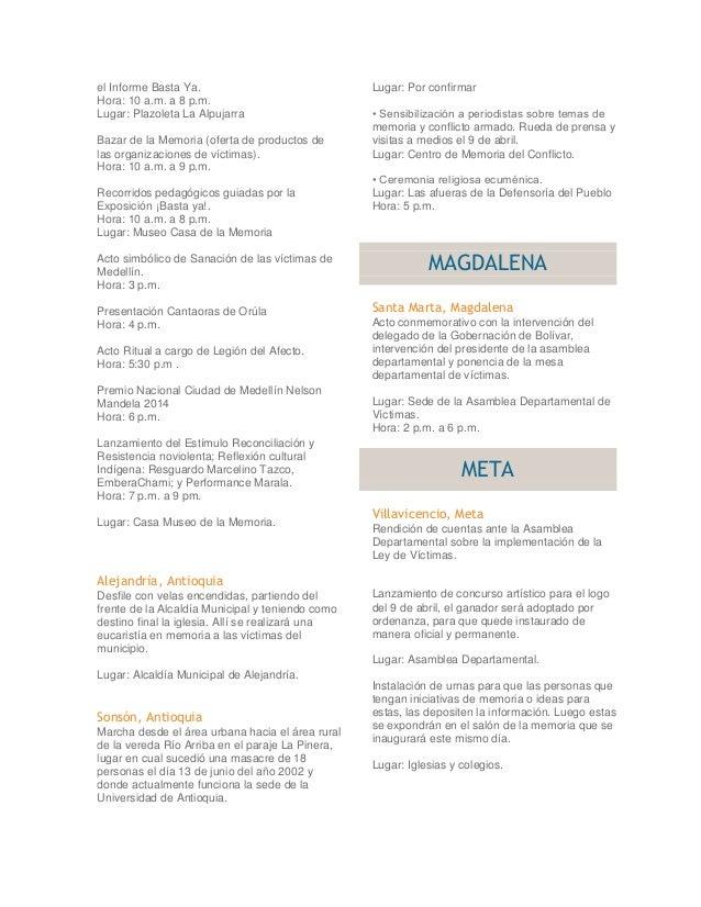 DIA NACIONAL DE VICTIMAS DEL CONFLICTO ARMADO Slide 2