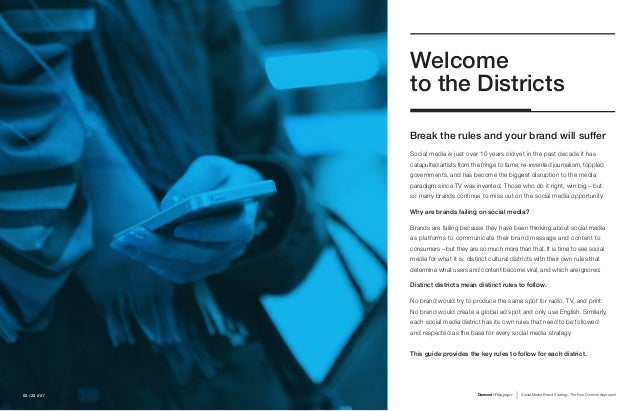 Social Media Brand Strategy: The Four Districts Approach Slide 2