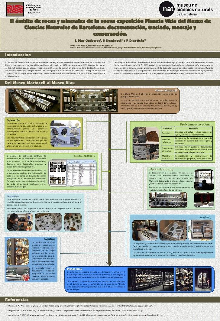 El ámbito de rocas y minerales de la nueva exposición Planeta Vida del Museo de         Ciencias Naturales de Barcelona: d...