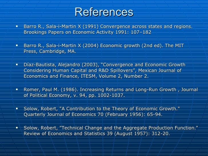 convergence theory economics