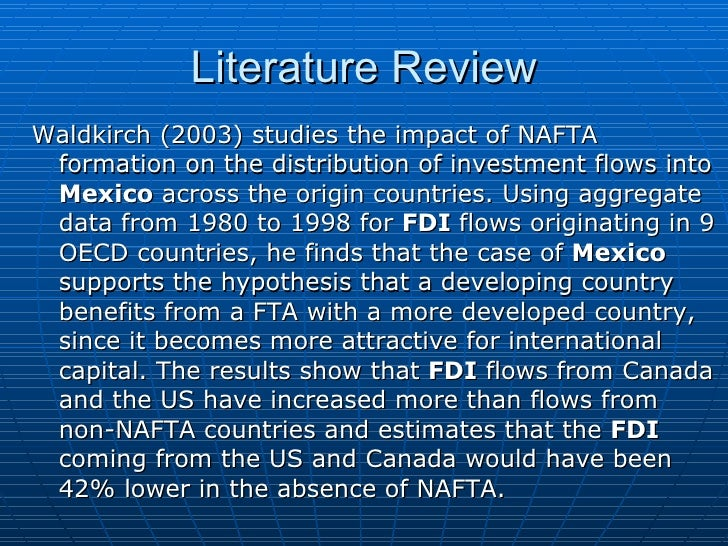 the effects of nafta in the united states and mexico The north american free trade agreement of 1994's effects on mexico have  long been overshadowed by the debate on the agreement's effects on the  economy of the united states.