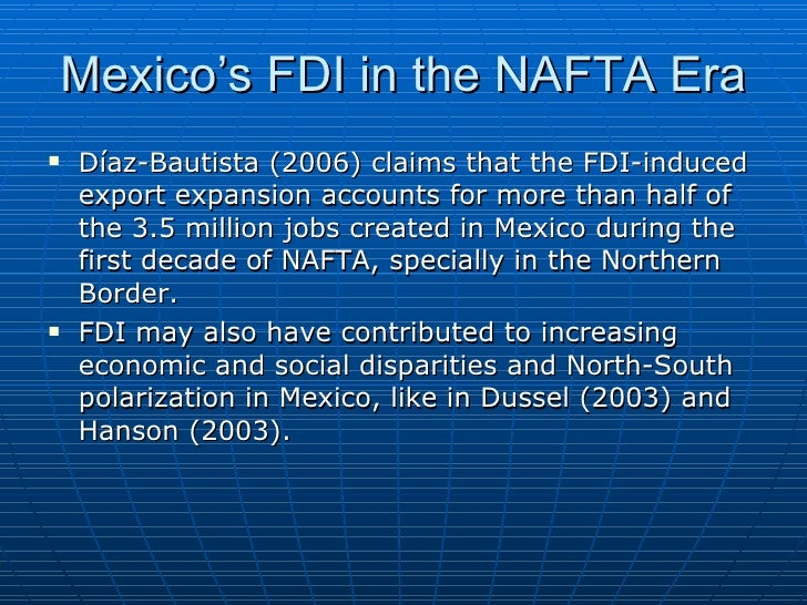 the effects of nafta in the united states and mexico Examines the effects of the north american free trade agreement nafta and migration promising relationship between mexico and the united states that nafta can.