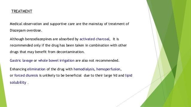 diazepam overdose management of depakote