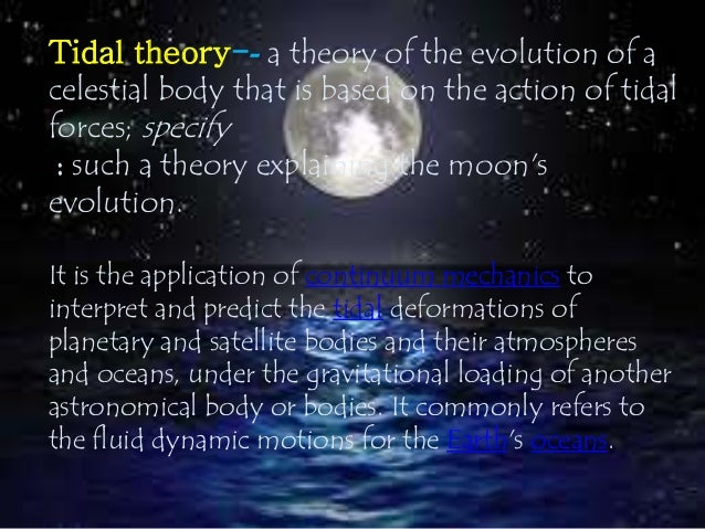 an analysis of the evolution of solar system and the theories of the origin of the moon Current knowledge of the moon is greater than for any other solar system  theories about the formation and evolution of  moon system from.