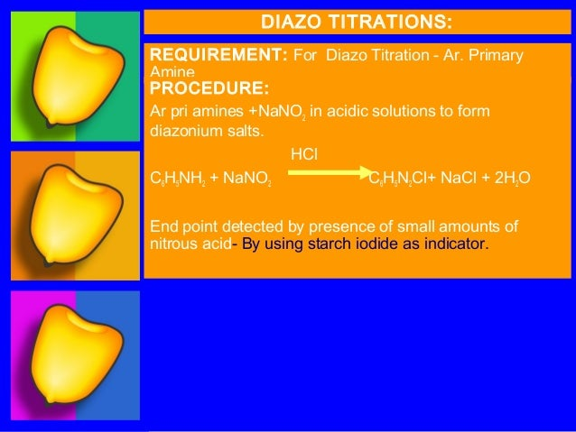 Diazotization titration